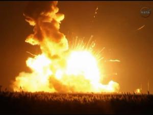 NASA Rocket Explodes At Wallops Island in Va.