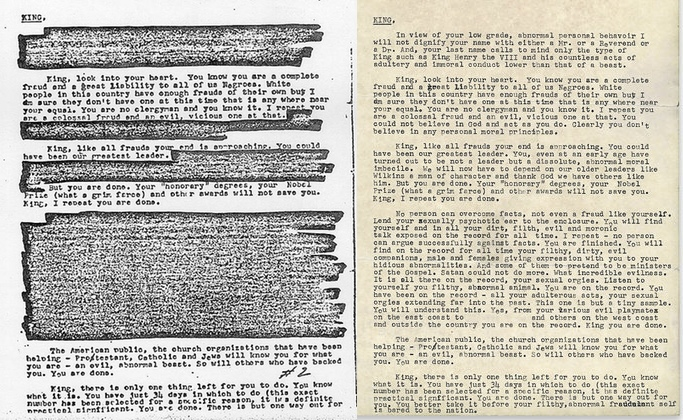 "FBI's ""Suicide Letter"" to Dr. Martin Luther King, Jr., and the Dangers of Unchecked Surveillance"