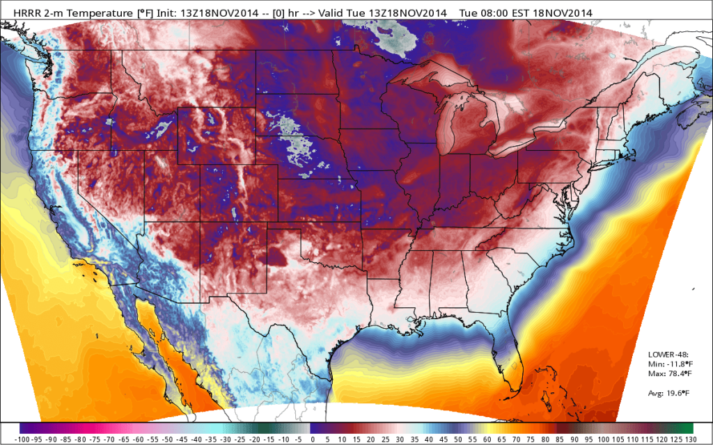 Global Warming? Record Breaking Cold Blankets United States