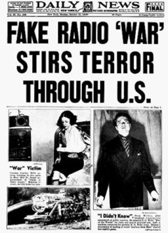 War of the Worlds headline