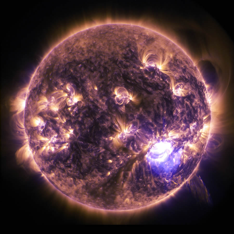 Holiday Lights on the Sun: Imagery of a Solar Flare