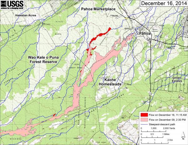 Kīlauea Volcano - Puna Lava Flow USGS