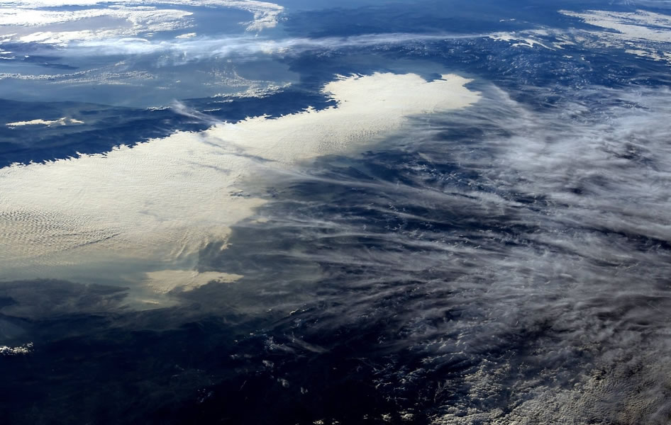 View of the Alps From Space