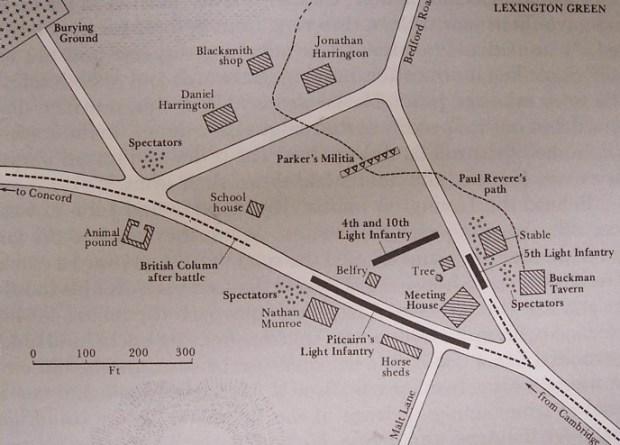 Lexington battle map