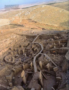 View over the main excavation area at Gobekli Tepe
