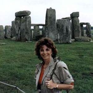 Linda at Stonehenge, England.