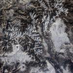 Rocky Mountain National Park Viewed From ISS