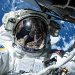 Astronaut Barry Wilmore on the First of Three Spacewalks