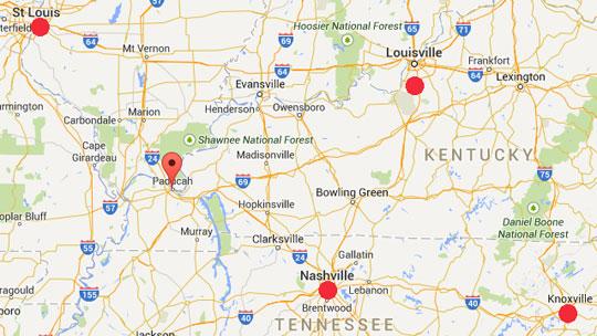 Booms Kentucky Paducah