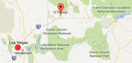 Booms Utah St George MAP