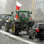 Polish Farmers Blockade Motorways Across Country