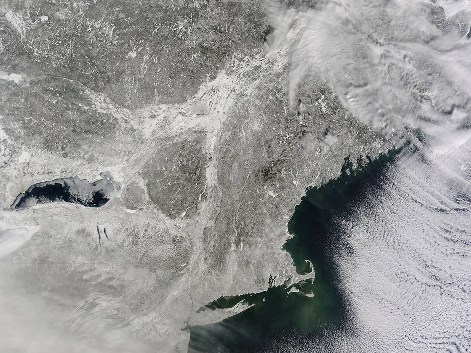 Snow-Covered Northeastern United States