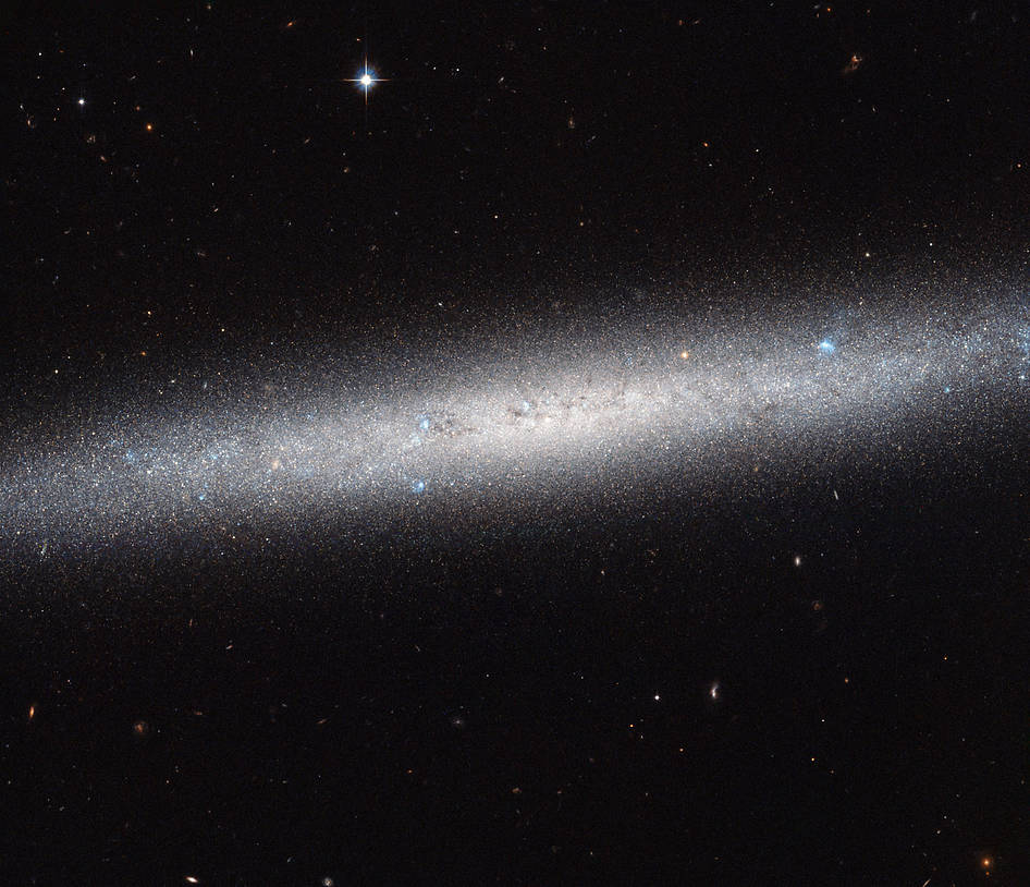 Hubble Views a Galaxy on Edge