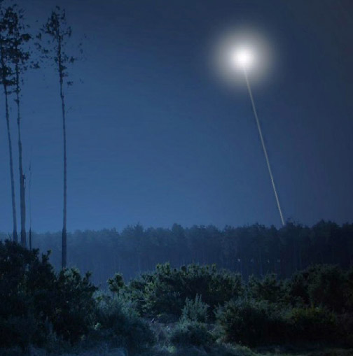 Lt. Col. Charles I. Halt described a mysterious aerial light above Rendlesham Forest