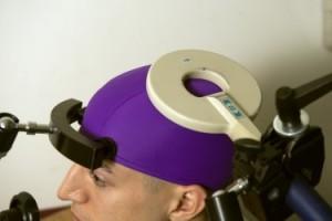 A transcranial magnetic stimulation coil