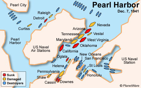 Pearl Harbor map