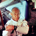 Astronaut Buzz Aldrin in the Apollo 11 Lunar Module