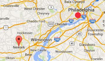 Booms Delaware Newark MAP