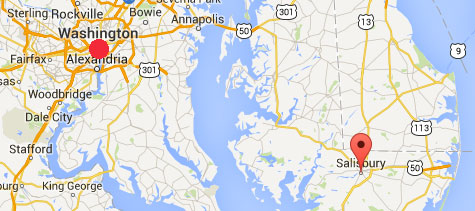 Booms Maryland Salisbury 020215 MAP