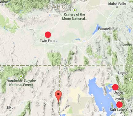Booms Nevada Pilot Peak MAP